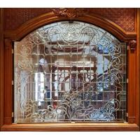 Quality Customized partition decorative leaded galss with all clear beveled for sale