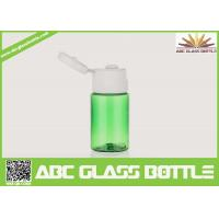 Quality Sample bottle for lotion cream,plastic green 15ml bottle for skin care cream for sale