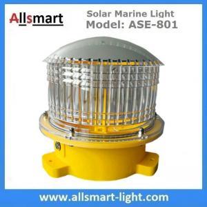 Quality 4NM 20LED Solar Marine Buoy Lantern Light Aviation Signal Warning Lights for Boat Aquaculture Ports Harbors Offshore for sale