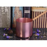 Quality OEM Tin Candle Holders 8oz Wax Filling Rose Gold Votive Metal Candle Jar for sale