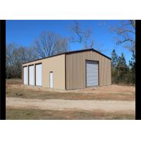 China Easy Assembled Prefab Steel Frame Storage Buildings With Aluminum Windows on sale