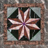 Granite Base Flower Patterns Marble Waterjet Medallion Floor Tile Marble Medallion Pattern for sale