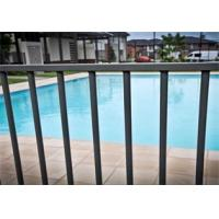 Quality Black Powder Coated Aluminum Flat Top Swimming Pool Fence 2400mm x1200mm for sale