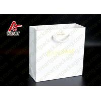 Quality Bright Golden Reusable Promotional Paper Bags For Retail Embossed LOGO for sale