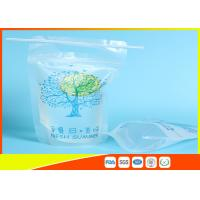 Quality Zip Lock Pouch Bags Stand Up Ziplock Bags , Printed Juice Pouches With Hanging Holes for sale