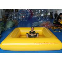 Quality 0.9 MM Pvc Tarpaulin Blue / Yellow Inflatable Swimming Pools Portable Above Ground for sale