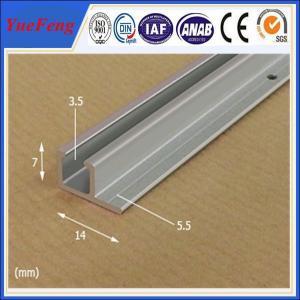 Quality Poster rail aluminium, very cheap aluminium profile anodized aluminium rails extrusion for sale