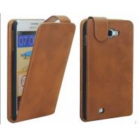 Quality Customized Brown PU Leather Samsung Galaxy Protective Case Covers with Free Custom LOGO for sale