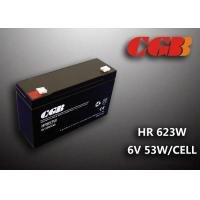 Quality Maintenance Free Valve Regulated Lead Acid Battery 6v 13AH , HR653W Power Supply Battery for sale