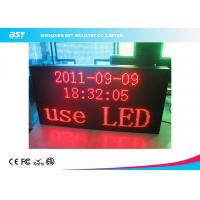 Quality P7.62 Matrix Red Indoor Led Moving Message Sign With Aluminum Frame / USB Control for sale