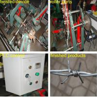 Buy High Quality double twist standard Galvanized Barbed Wire Machine at wholesale prices