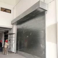 China Roll up Garage Doors Rolling Shutter Door with Motor for Commercial Building on sale