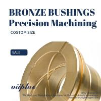Quality CNC Precision Machining Copper Flange Sleeve Bushing Oil Groove Costom Size for sale