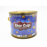 Quality 4g Star Chocolate Cup In PVC Jar Sweety Chocolate With Crispy Cookie for sale