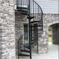 Buy cheap Exterior stainless steel spiral staircase design /prefabricated outdoor metal from wholesalers