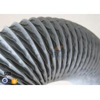 Buy cheap PVC Coated Fiberglass Fabric Flexible Air Duct Grey Waterproof 200MM 5M 260℃ from wholesalers