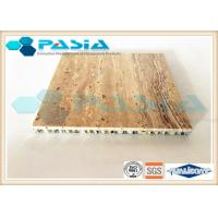 Quality Travertine Stone Honeycomb Ceiling Panels , Lightweight Stone Panels Moistureproof for sale