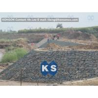 Quality Customized Architecture Gabion Retaining Wall with PVC Coated Galfan Wire for sale