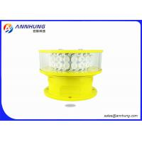 Quality Marking Towers Aircraft Warning Light IP Rating 65 And Red Color Temperature for sale