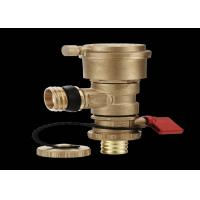 External Thread Automatic Dual Purpose Brass Ball Valve True Color for sale