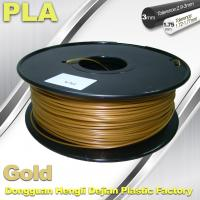 Quality 1.75mm /  3.0mm Gold PLA 3d Printer Filament 100% biodegradable for sale