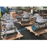 High Pressure Fixed Ball Trunnion Mounted Ball Valve With Worm Gear Operation for sale