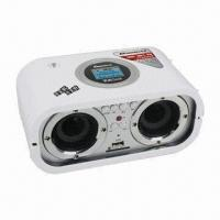 Quality LCD Display SD/MMC and USB Card Reader Portable Speaker with FM Radio + Remote Control for sale