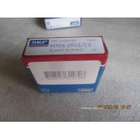 Quality 6006-2RS1/C3 Single Row SKF3 / GCR15 Chrome Steel Ball Bearing C3 Clearance For Automotives for sale