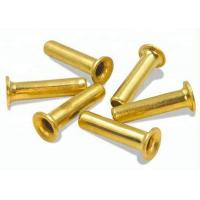 Buy Zinc Plated Open End Through Hole Hollow Tubular Rivets / Copper Stainless Steel at wholesale prices