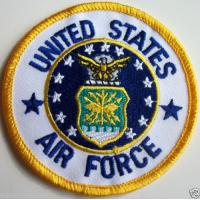 China Embroidered United States Air Force Iron On Patch Biker Enthusiast Military on sale