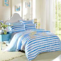 Quality Kids Bedroom Home Bedding Sets Environmentally Friendly Blue / Black And White Striped Bedding for sale