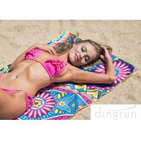 Quality Microfiber Material Custom Beach Towel Printing Super Fast Drying Outdoor for sale