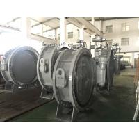 Quality DN1200 Size Double Flanged Gear Box Operator Marine Butterfly Valve for sale