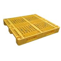 Quality Three Runner Single Faced Edge Stackable Plastic Euro Pallet Price for sale