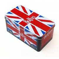 Buy cheap Beatles style gift Rectangular Tin Box / tin cantainers 4c offset printing from wholesalers