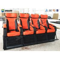Quality 4 Seat Per Set 4D Movie Theater Cinema Equipment Customize Color Motion Chairs for sale