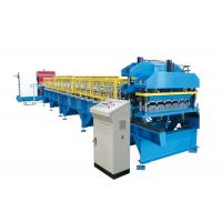 Quality Metal Roof Glazed Tile Roll Forming Machine Corrugated Steel Sheet BV / SGS for sale