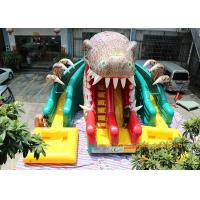 Quality Dinosaur Water Park Commercial Inflatable Slide With Pool 6 * 4.5 * 5m for sale