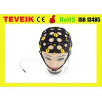 Quality Black Tin Electrode EEG electrode cap, 20 leads separating EEG hat for sale