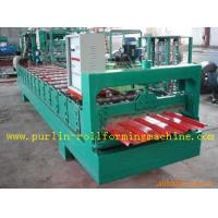 Quality High Speed Glazed Tile Cold Roll Forming Machine 0 - 20 m/min Red Roofing Panel or Customized for sale