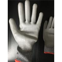Quality 13 gauge Knitted Cut level 3 coated PU palm gloves/Cut resistant gloves for sale