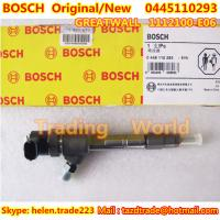 Quality BOSCH Original Injector 0445110293 / 1112100-E06 for Great Wall Hover for sale