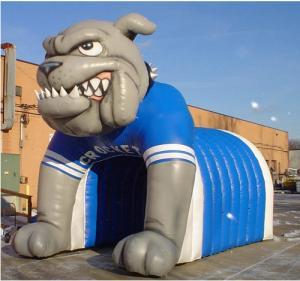 inflatable tiger football helmet tunnel inflatable football helmet