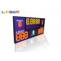 Quality Multi Sport LED Digital Basketball Scoreboard With Shot Clock Timer / Inside Loud Buzzer for sale