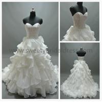 Quality Ball Gown Sweetheart Beading Lace and Organza Wedding Dress AS1845 for sale