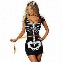 Quality 1 Piece Anna Rexia Costumes, Includes Skeleton Dress for sale