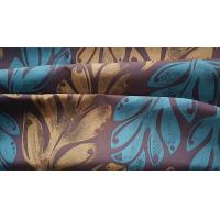 Quality Microfiber Beachwear Fabric Paper Printed Polyester Satin W/R Finish 150GSM for sale