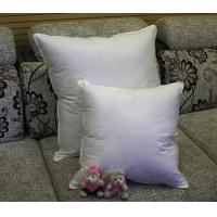 China 2cm - 4cm White Duck Feather Cotton Cushion Inserts Double Stitched Piping for Home / Hotel on sale