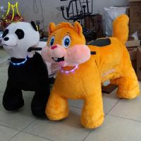 Quality Hansel  stuffed animal toy ride electric ride on toy battery powered walking pets animal electric ride for sale