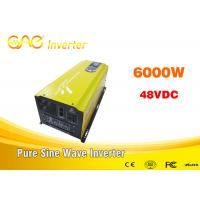 China CE & FCC 6kw Single output off grid solar inverter 48vdc 220vac frequency inverter for solar power system on sale